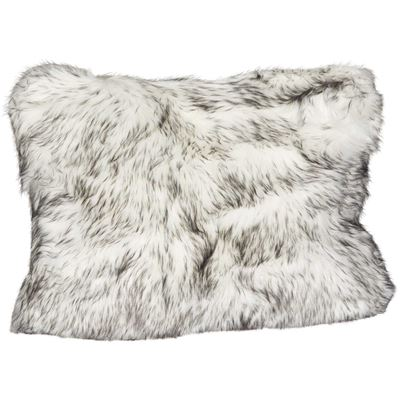 Picture of 15x20 Black Bear Faux Fur Pillow