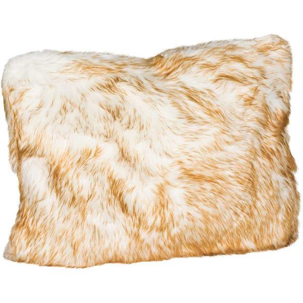 Picture of 15x20 Brown Bear Faux Fur Decorative Pillow