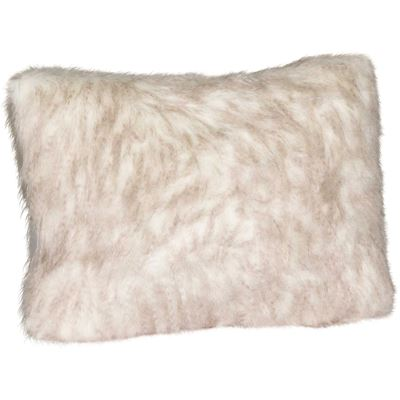 Picture of 15x20 Taupe Pheasant Faux Fur Decorative Pillow