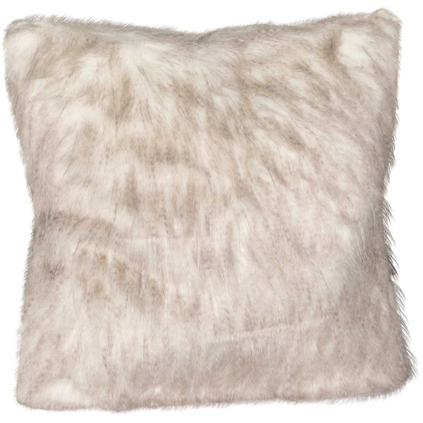 Picture of 20x20 Taupe Pheasant Faux Fur Decorative Pillow
