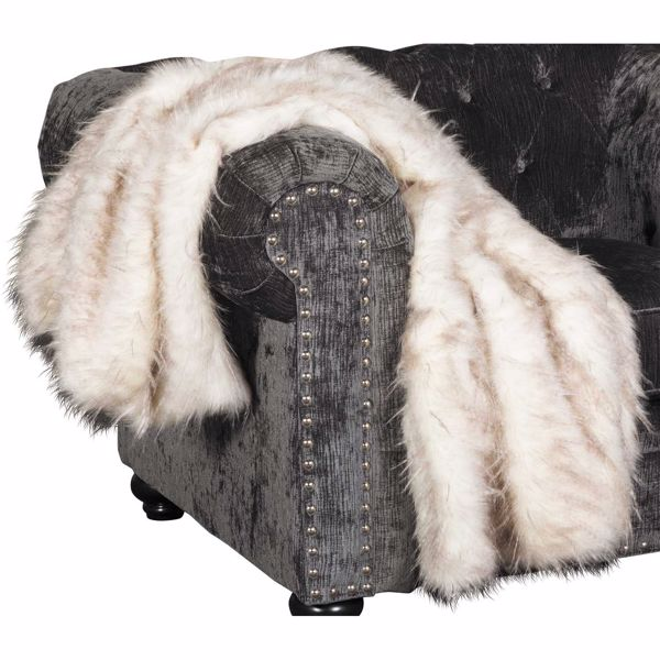 Picture of 40x60 Taupe Pheasant Faux Fur Pillow *P