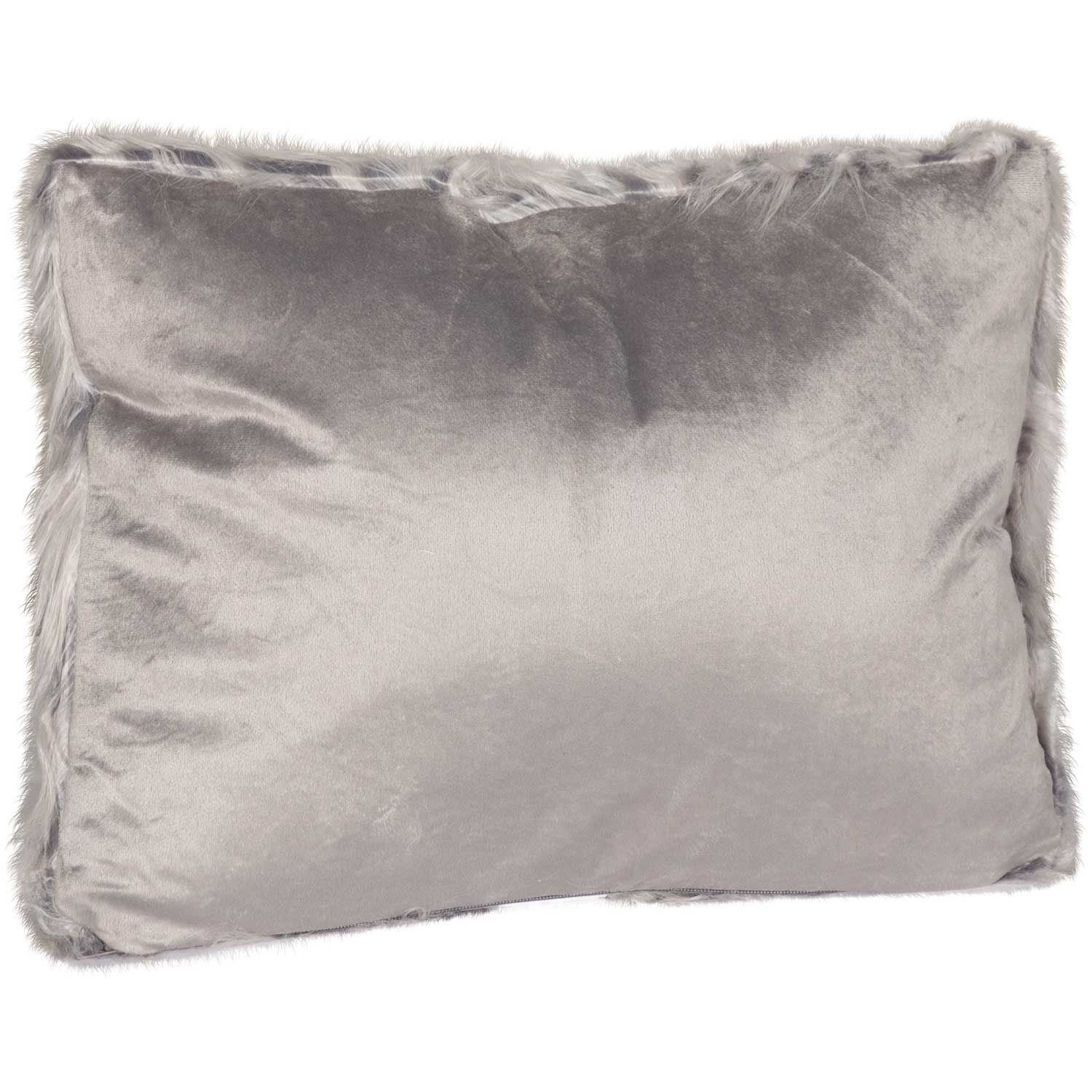 Picture of 15x20 Zazu Gray Faux Fur Decorative Pillow