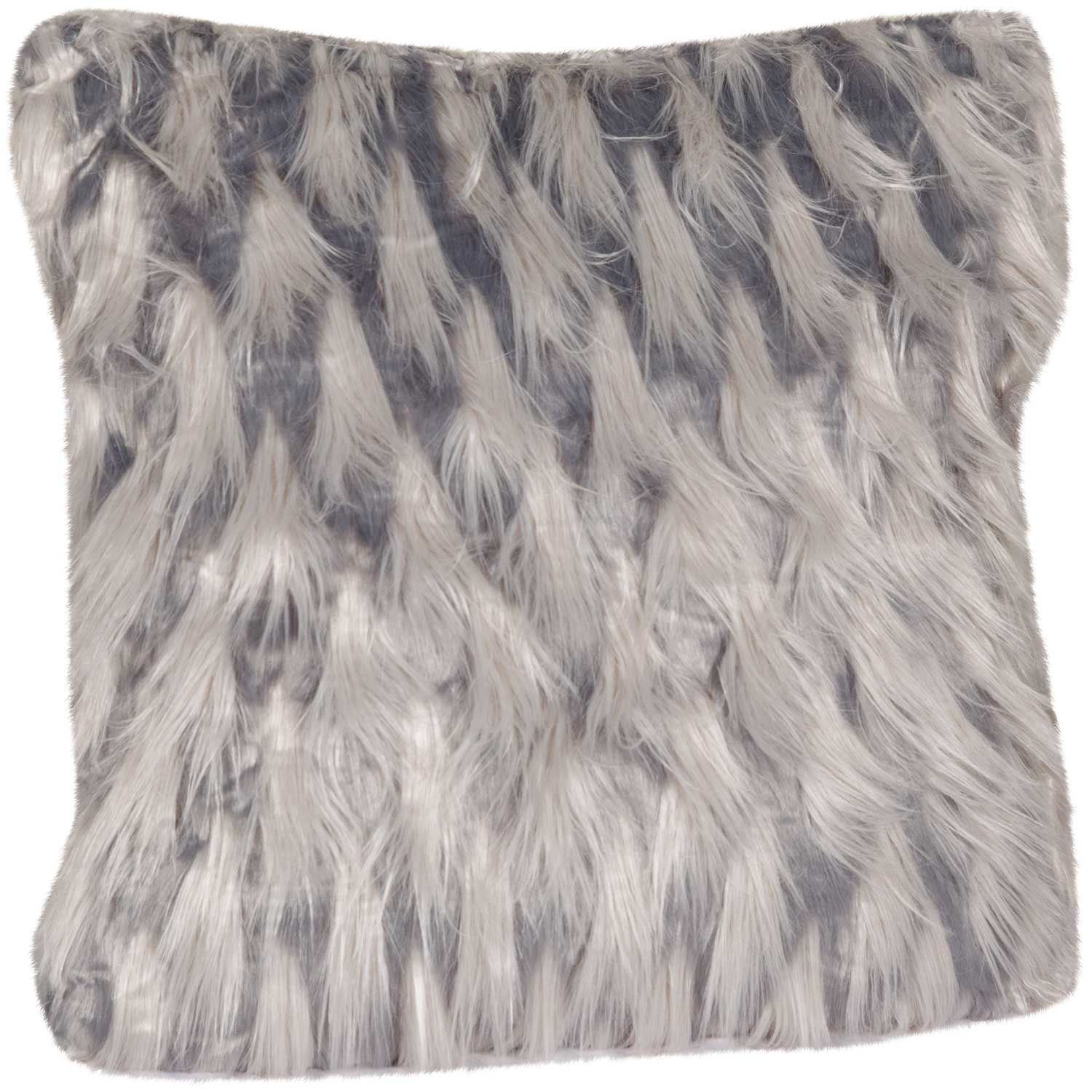 20x20 Zazu Gray Faux Fur Decorative Pillow