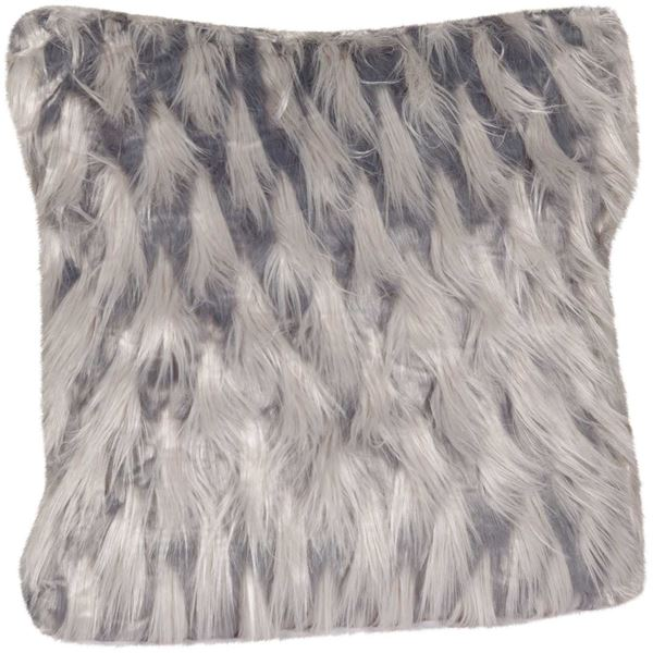 Picture of 20x20 Zazu Gray Faux Fur Pillow