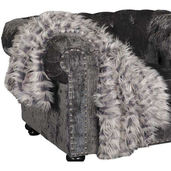 Picture of 40x60 Zazu Gray Faux Fur Throw