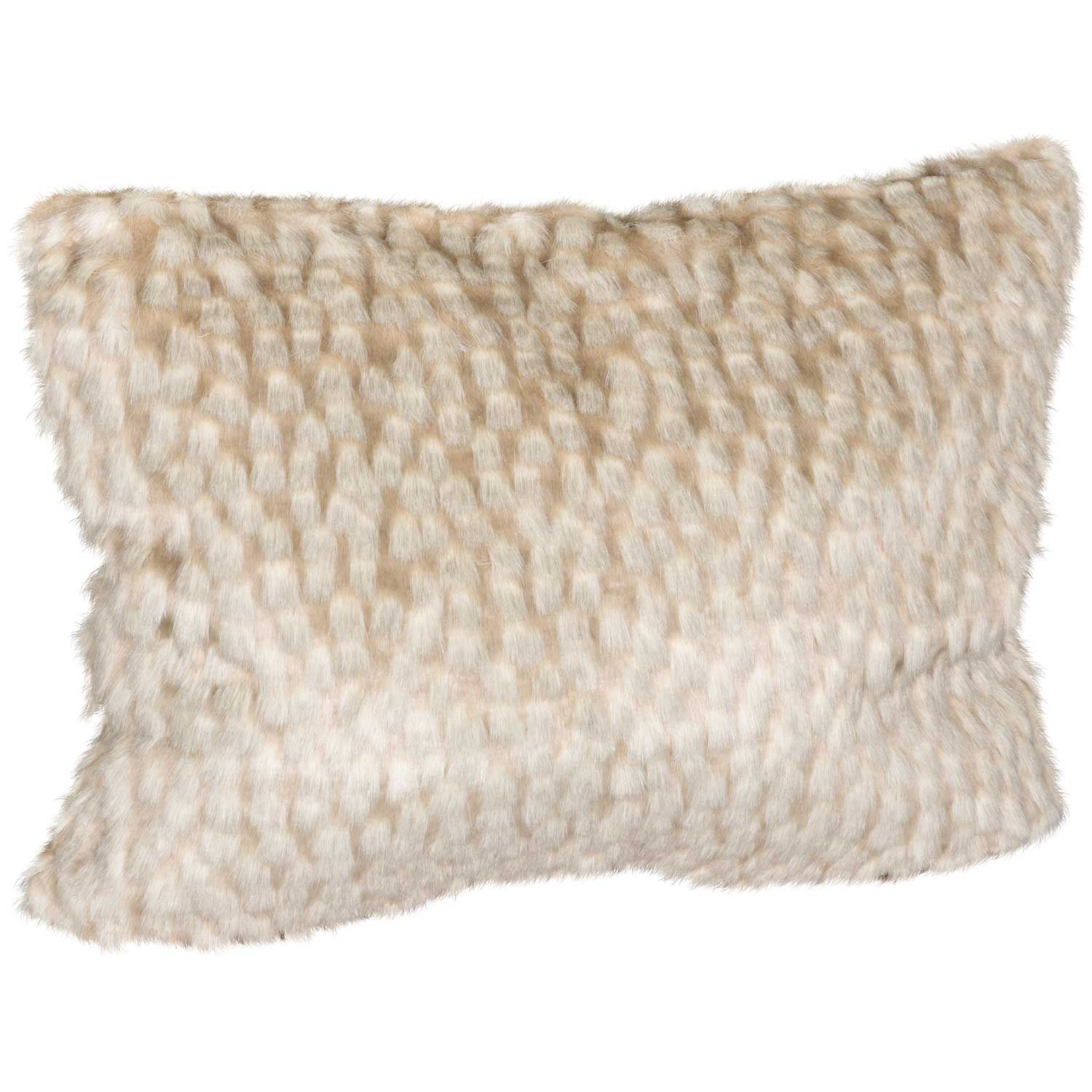 Picture of 15x20 Zambia Gray Faux Fur Decorative Pillow