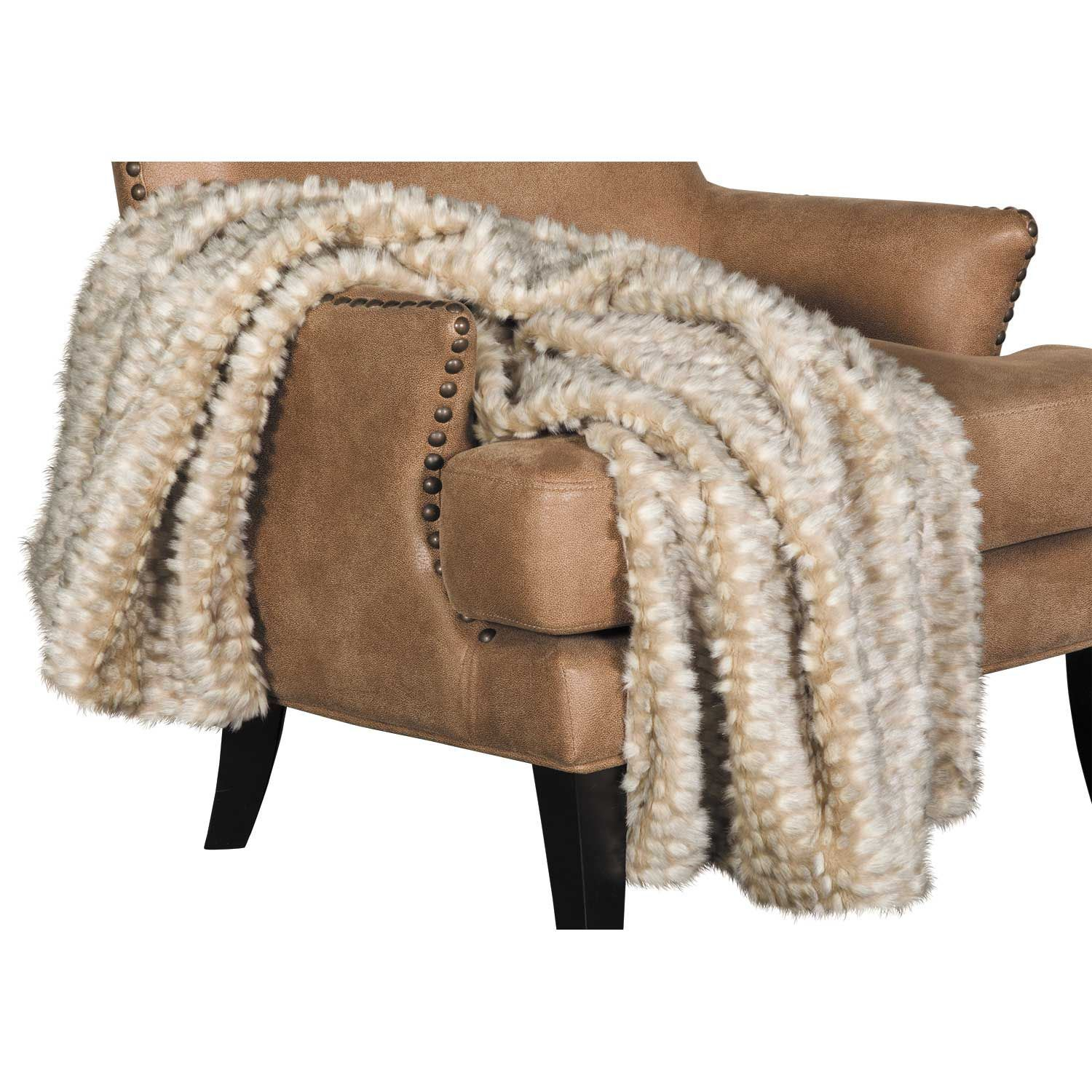 Picture of 40x60 Zambia Gray Faux Fur Throw