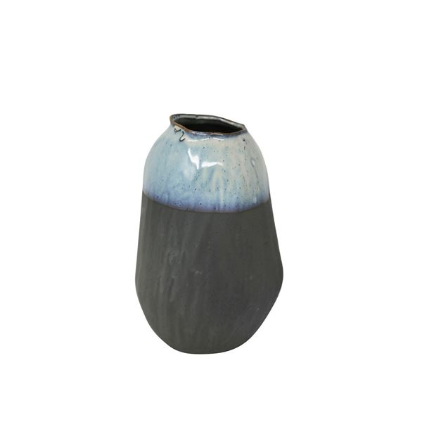 Picture of Gray Blue Organic Vase