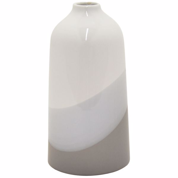 Picture of Narrow Neck Ivory and Grey Ceramic Vase