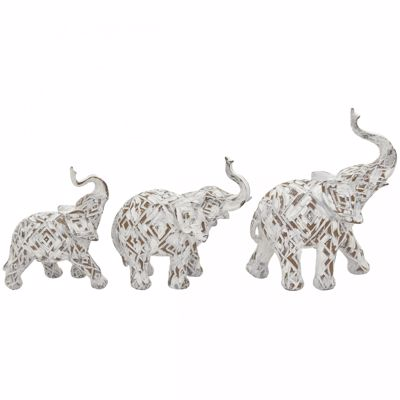 Picture of Set of 3 Elephant Sculptures