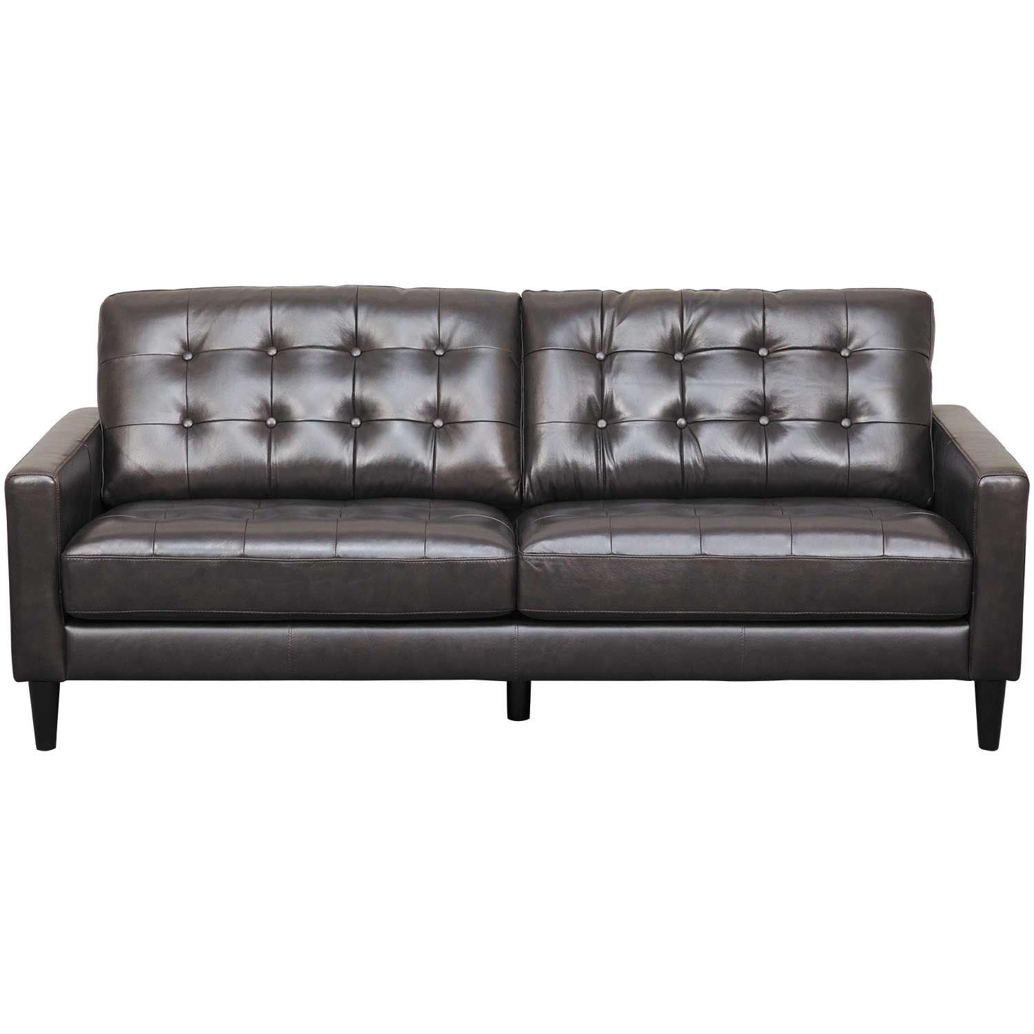 Ashton Dark Brown Leather Sofa