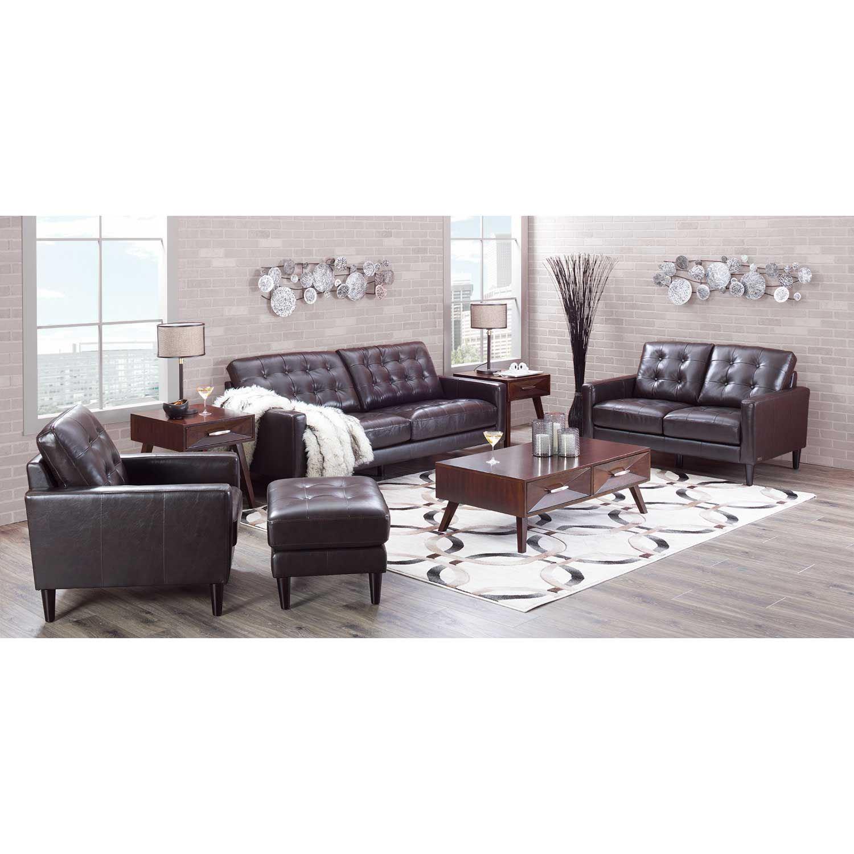 Ashton Dark Brown Leather Sofa