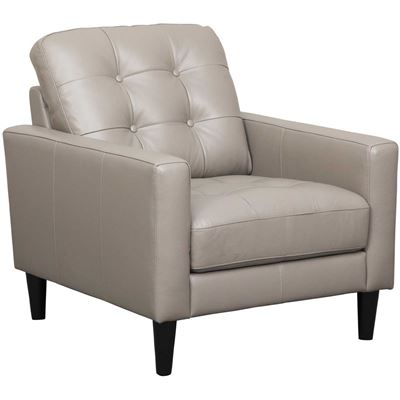 Picture of Ashton Grey Leather Chair