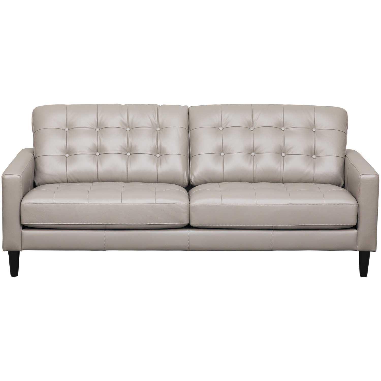 Ashton Grey Leather Sofa | AS-5957BR-GRY-3 | Abbyson Living | AFW.com