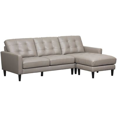 Picture of Ashton Grey 2 Piece Leather Sectional