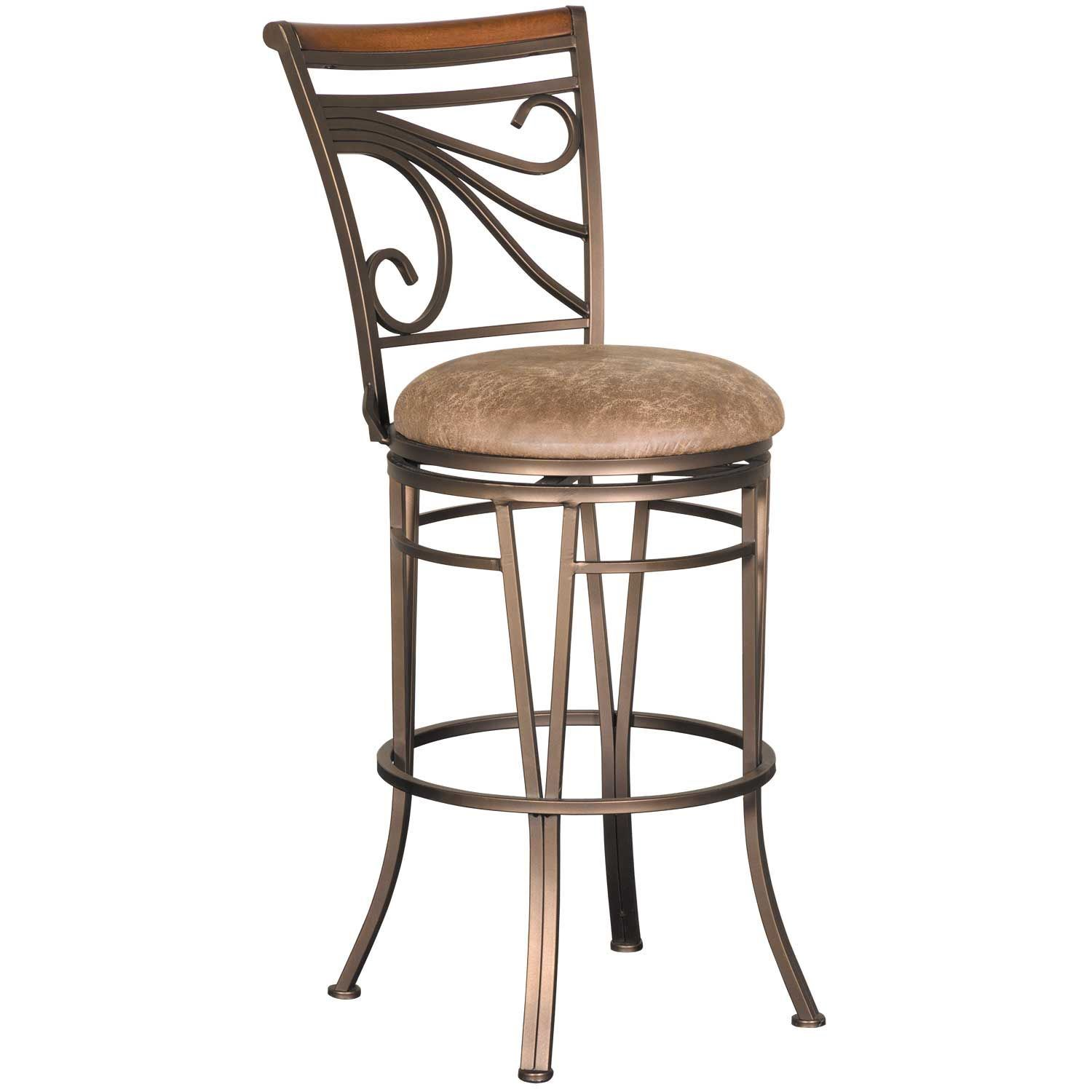 """Picture of GlowII 30"""" Armless Swivel Barstool"""