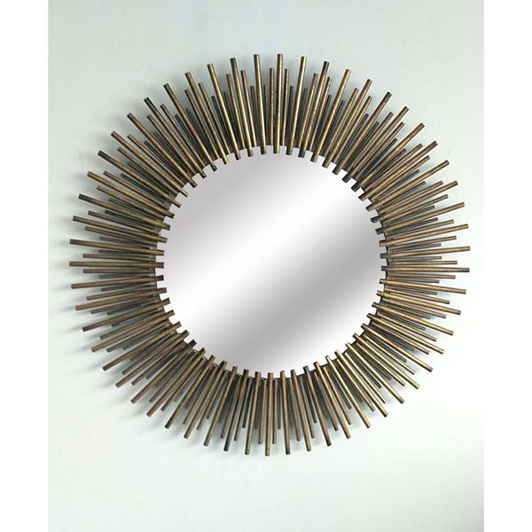 Picture of Metal Spike Gold Wall Mirror