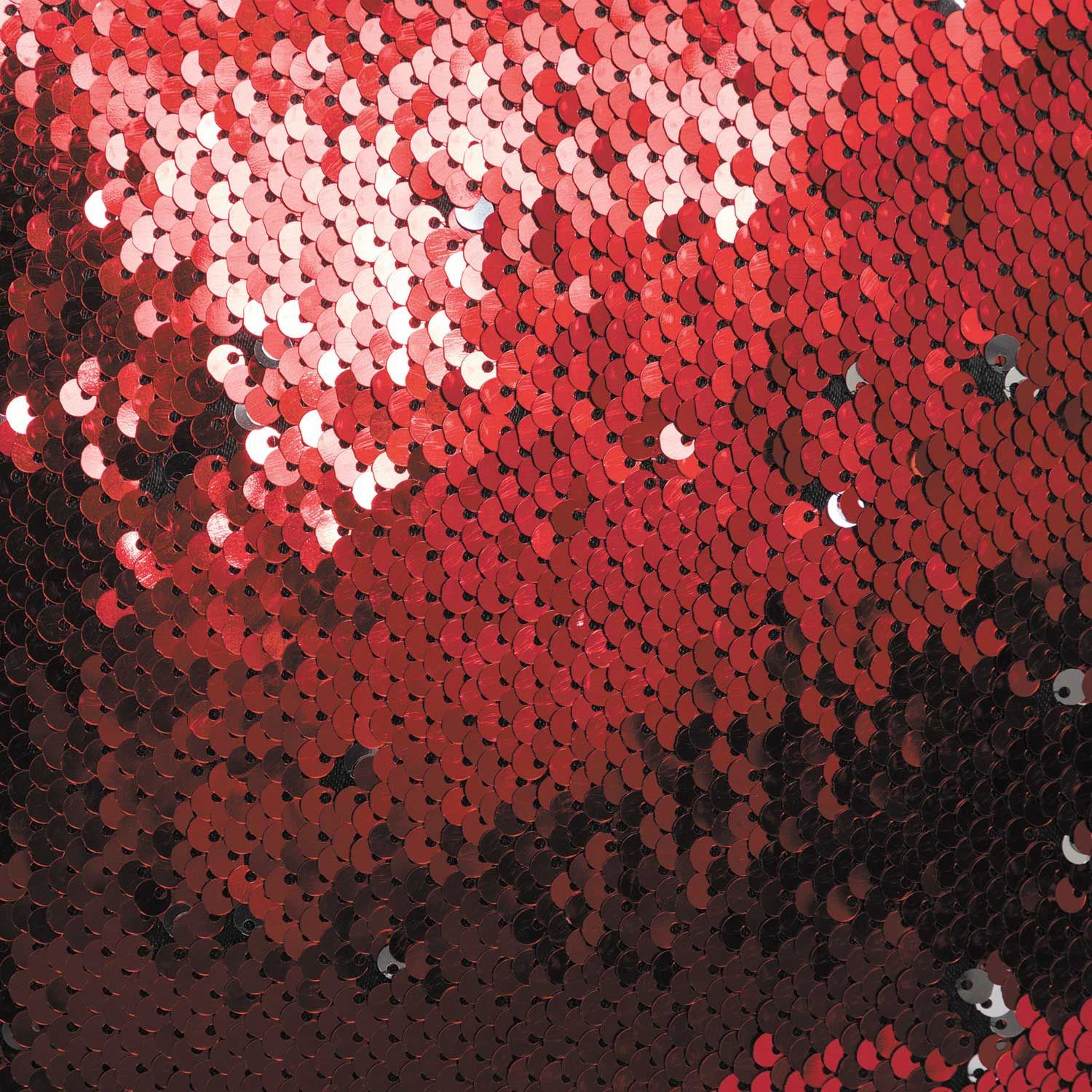 Picture of Red to Silver 16 Inch Sequin Decorative Pillow *P