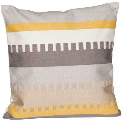 Picture of Yellow and Gray Zipper 18 Inch Decorative Pillow *P