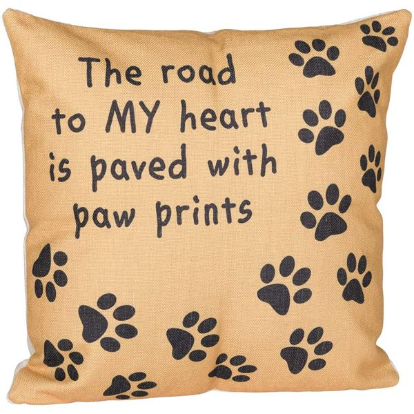 Picture of 18X18 Paw Print Pillow