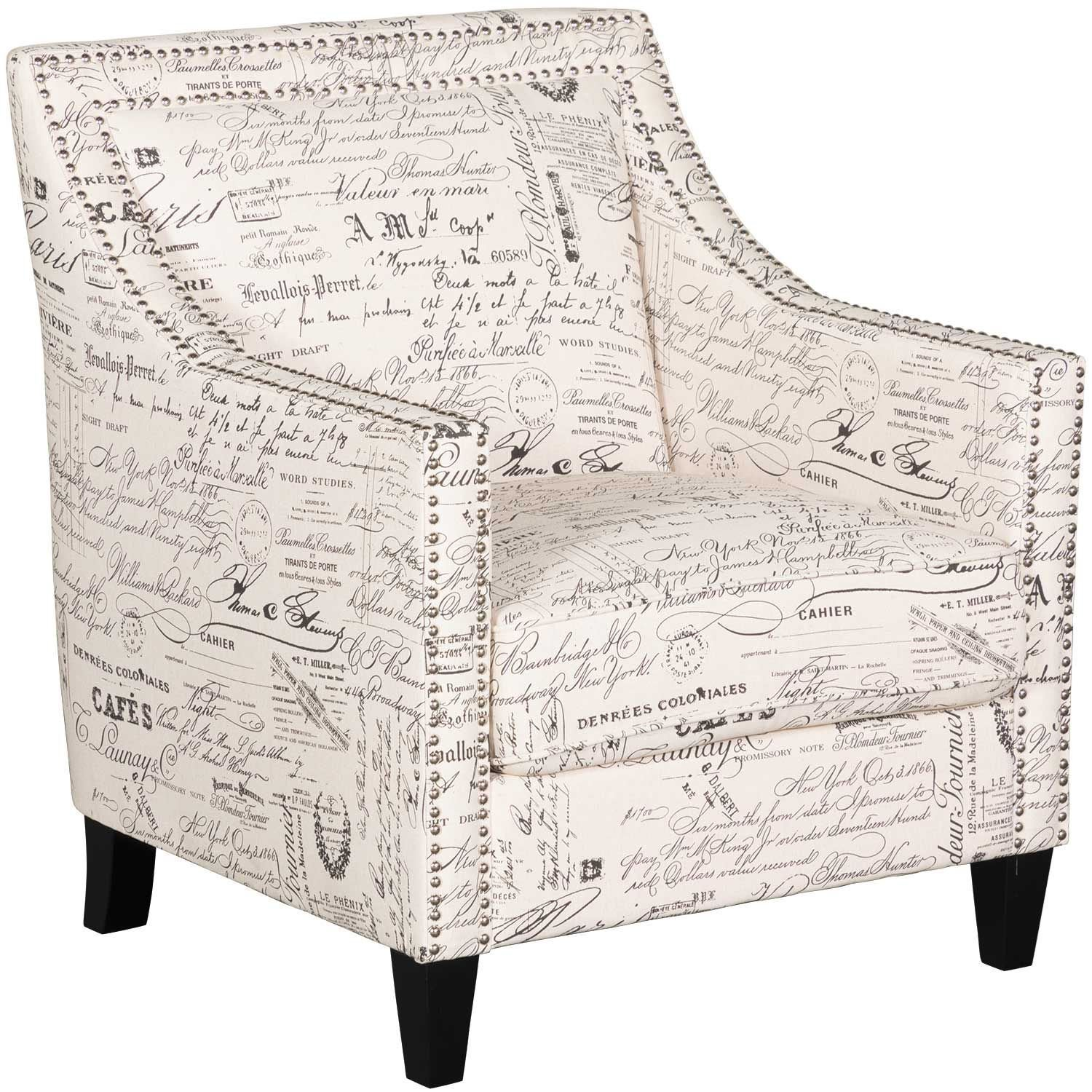 Trina Script Accent Chair UER636100
