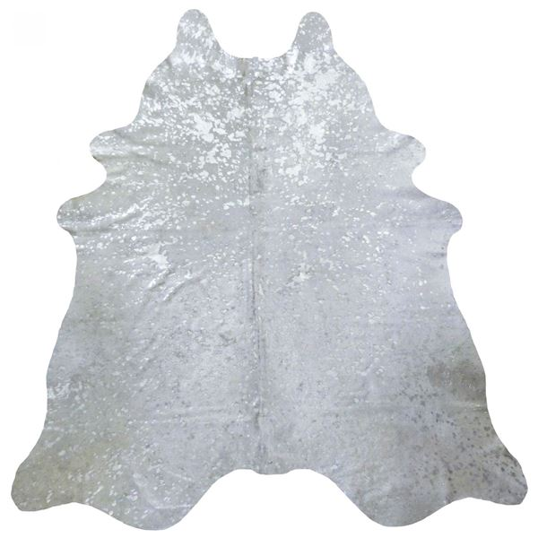 Picture of Silver Metallic Cowhide