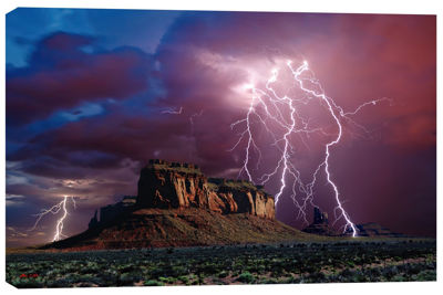 Picture of The Lights of Eagle Mesa in Monument Valley 32x48 *D