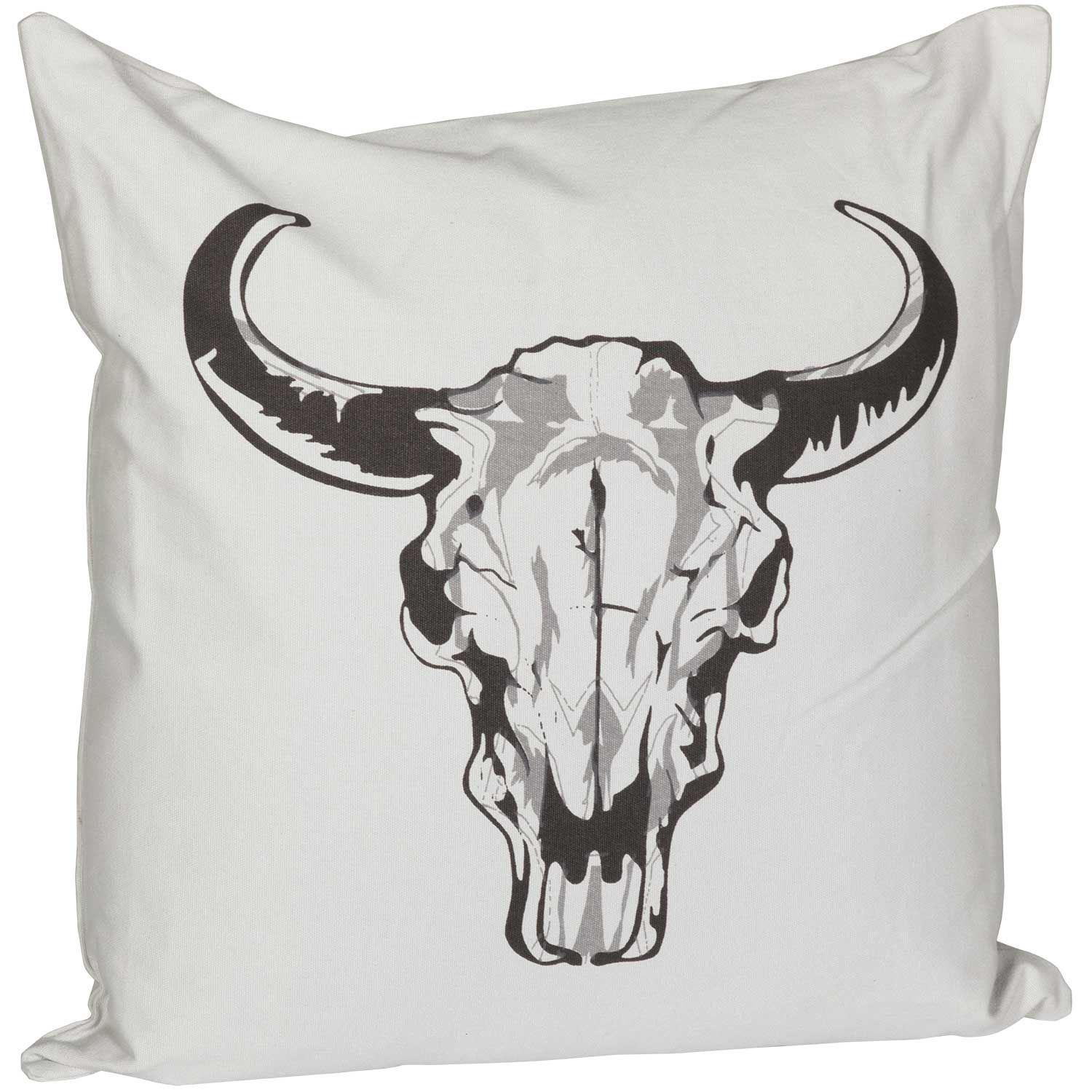 Picture of 20x20 Cow Skull Pillow *P