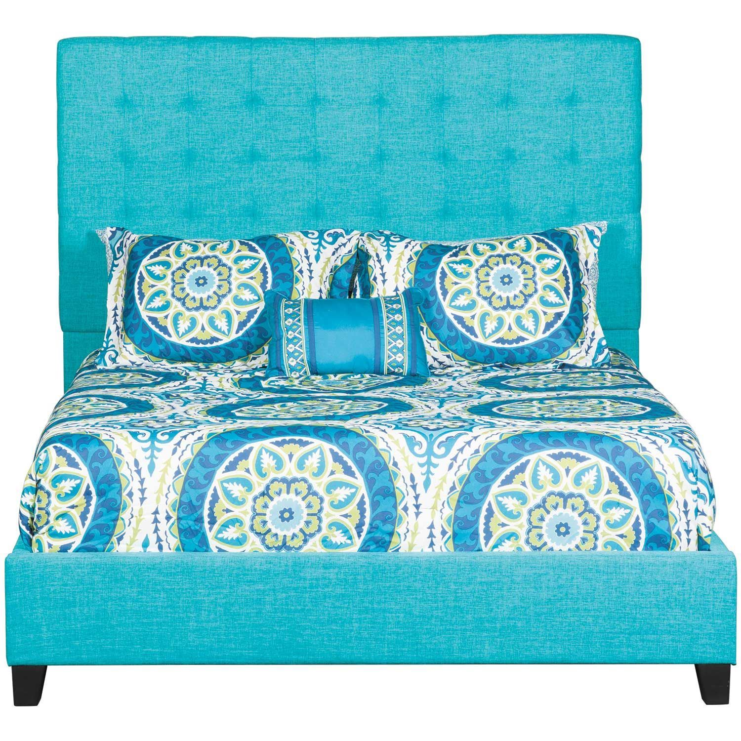 Picture of Florence Upholstered Teal King Bed