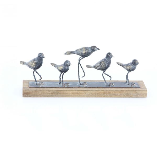Picture of Wood Metal Birds Sculptures
