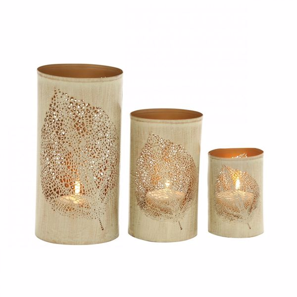 Picture of Set 3 Pierced Candle Holder