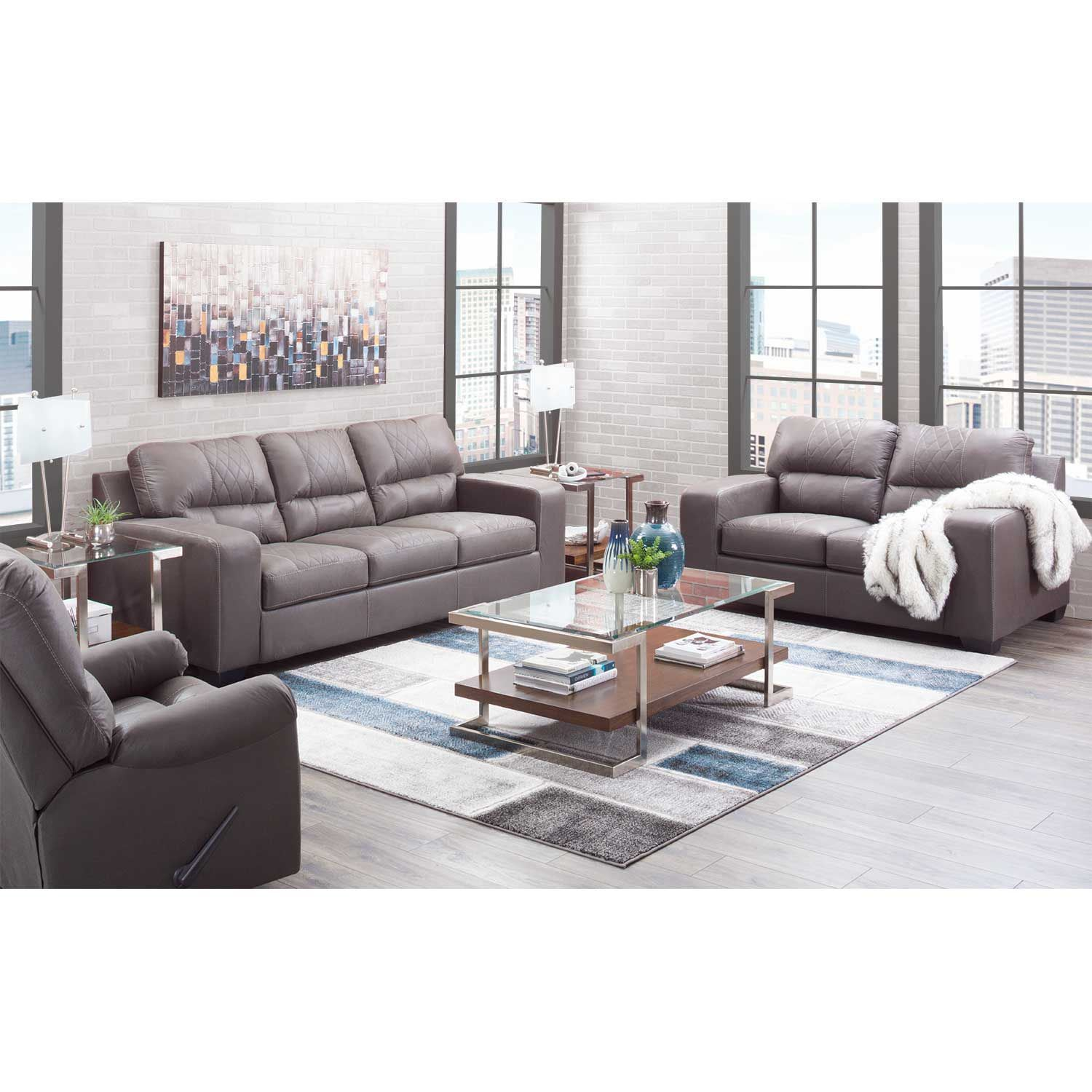 Picture of Narzole Gray Loveseat
