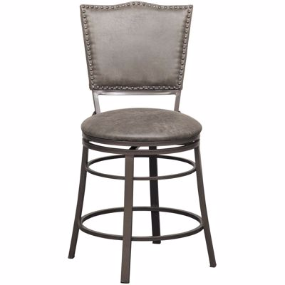 "Picture of 24"" Fully Welded Rustic Swivel Barstool"