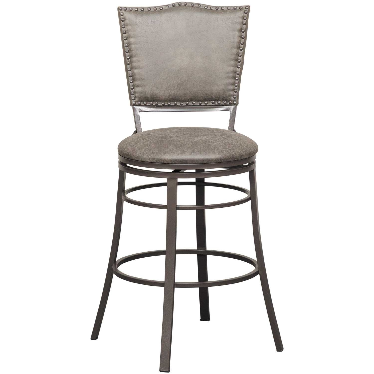 "Picture of 30"" Fully Welded Rustic Swivel Barstool"