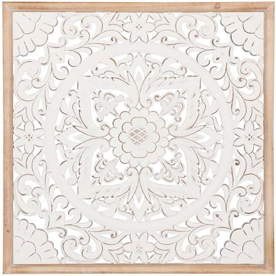 Picture of White Framed Mosaic Pattern