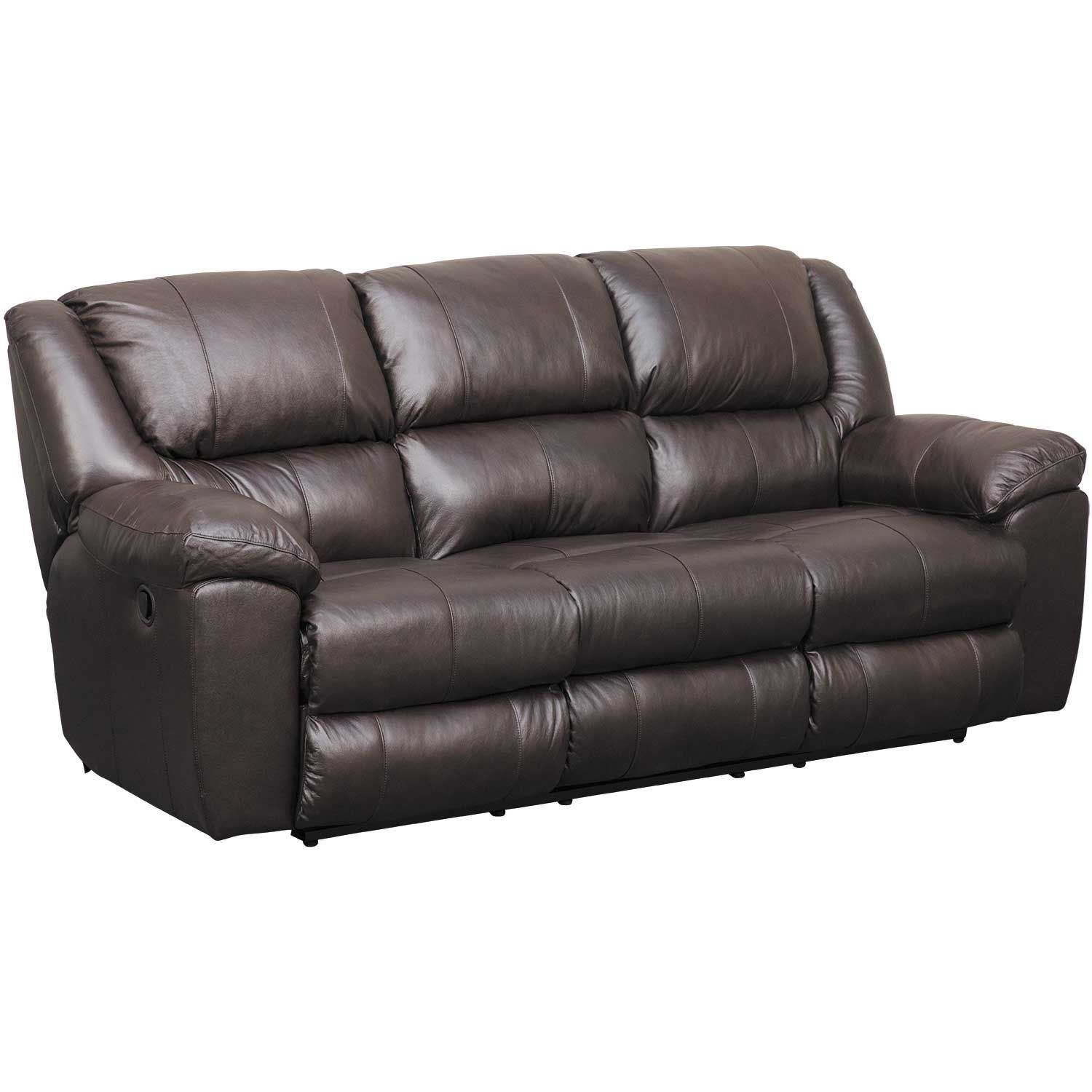 Picture of Italian Leather Triple Recline Sofa with Drop Table