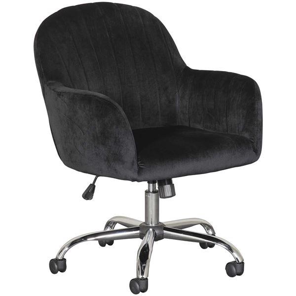 Picture of Office Chair Velvet, Black
