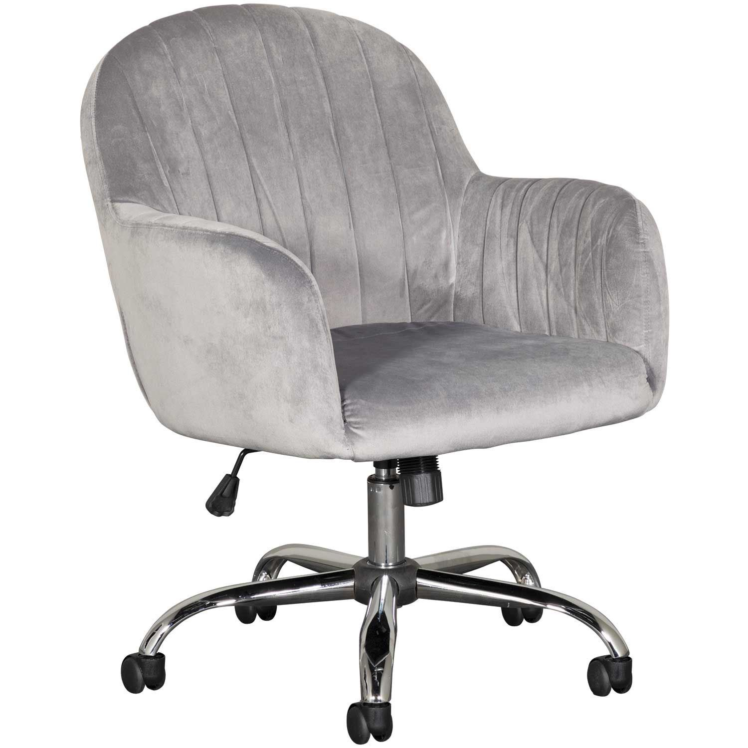 Tremendous Office Chair Velvet Grey Bralicious Painted Fabric Chair Ideas Braliciousco