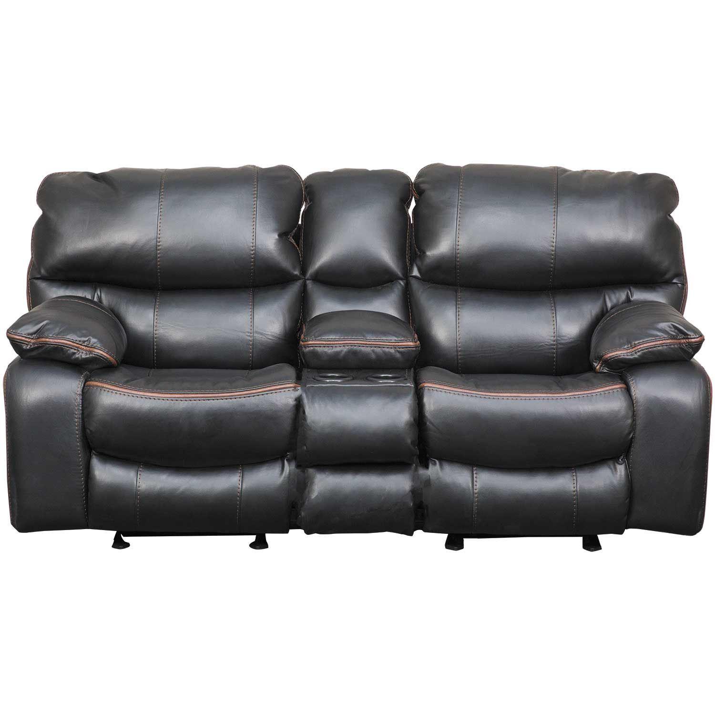 Superb Camden Black Gliding Reclining Console Loveseat Forskolin Free Trial Chair Design Images Forskolin Free Trialorg