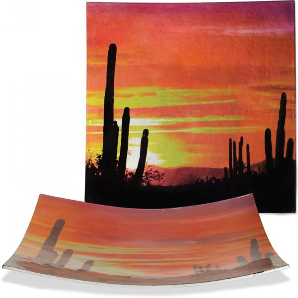 Picture of Desert Glass Plate and Stand