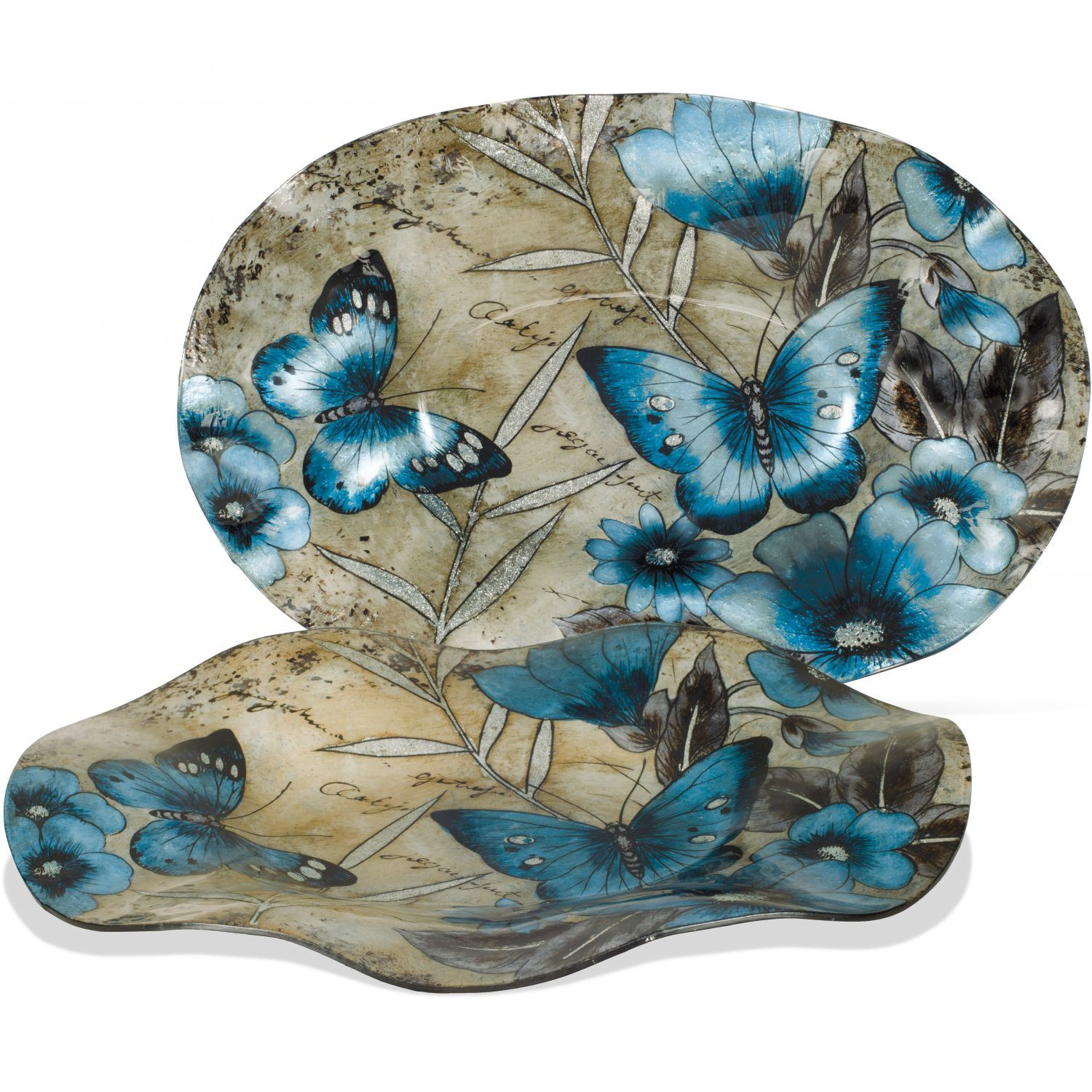 Picture of Butterfly Glass Plate and Stand