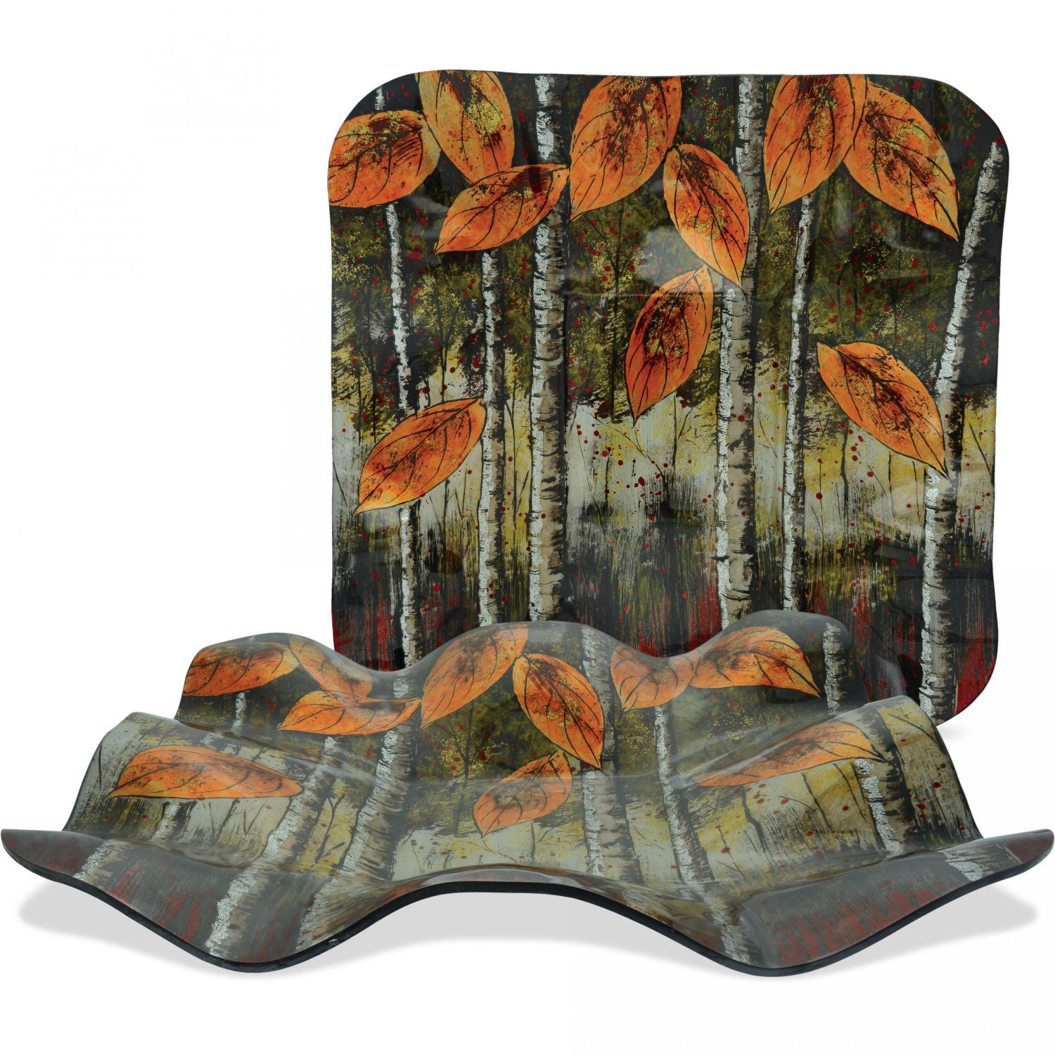 Picture of Autumn Glass Plate and Stand