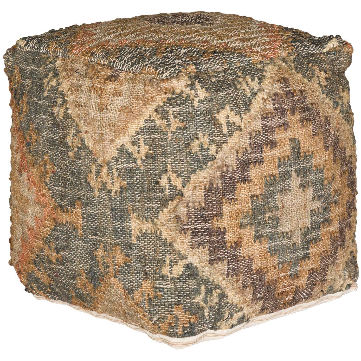 Picture of Morie Teal Southwest Pouf