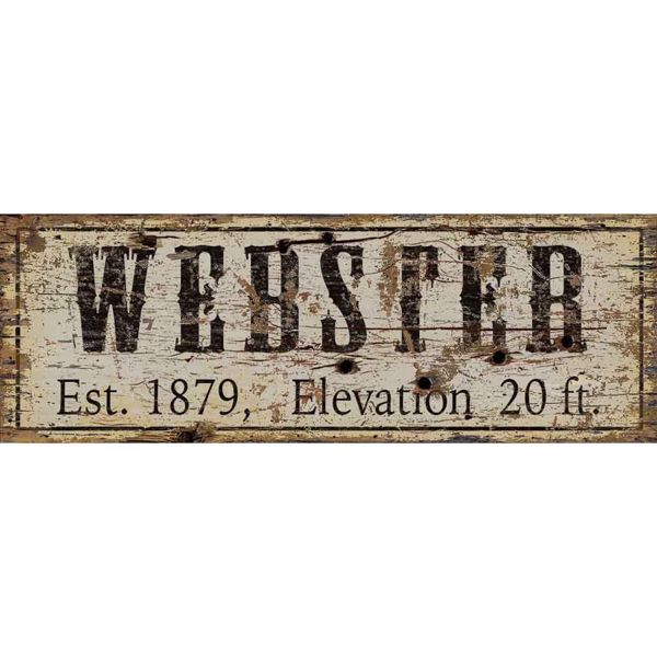 Picture of Webster Established Wood Sign