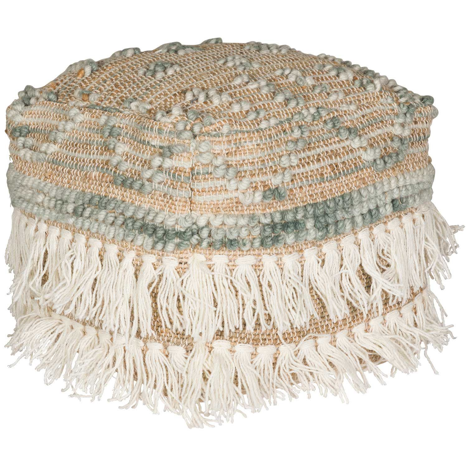 Picture of Frinton Blue Handwoven Pouf