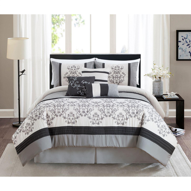 Cambridge Grey Queen Comforter Set Bedding Hallmart