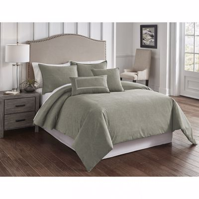 Picture of Chambray Sage Queen Comforter Set