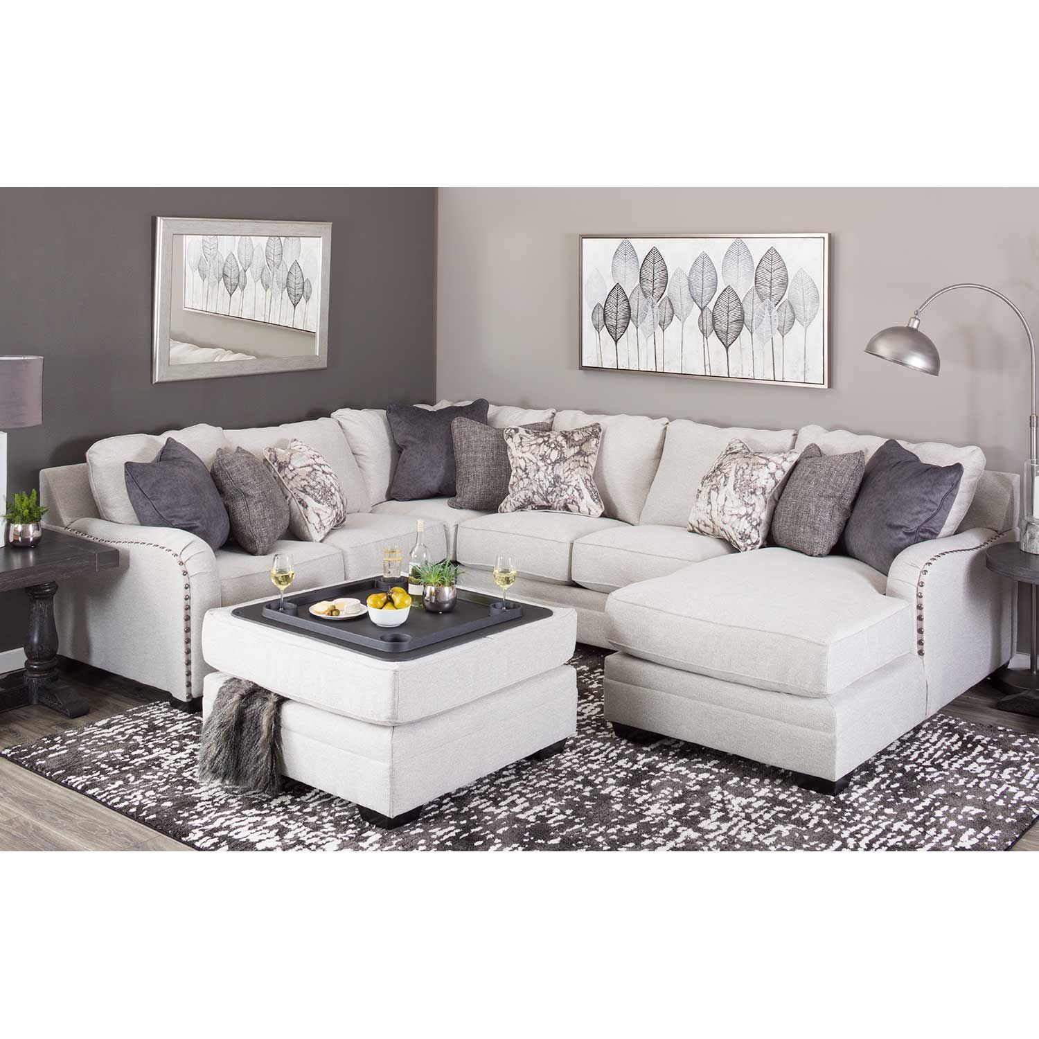 Nearest Ashley Furniture Store: Dellara 4PC Sectional With RAF Chaise