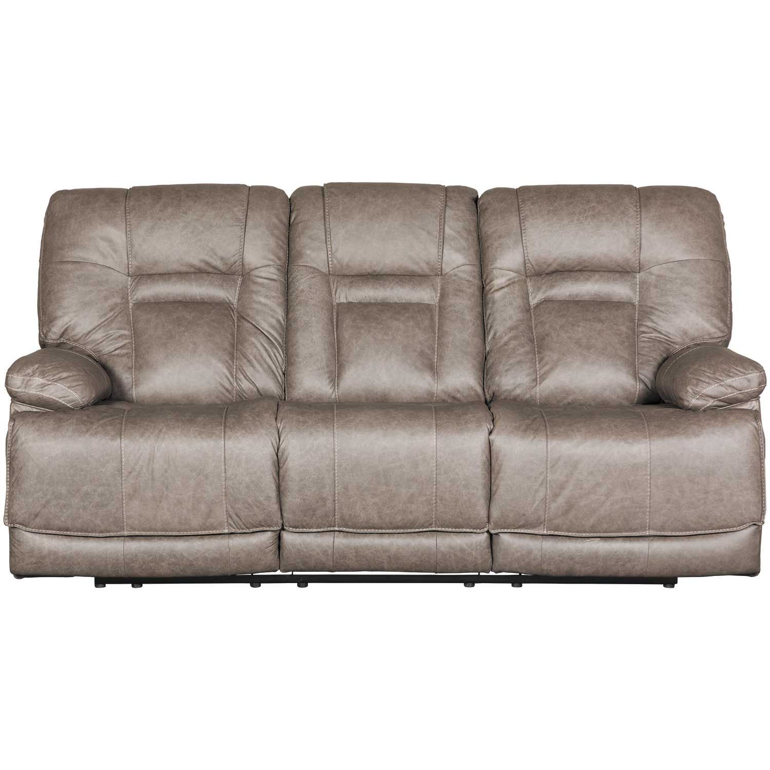 Wurstrow Smoke Italian Leather Power Reclining Sofa U5460215