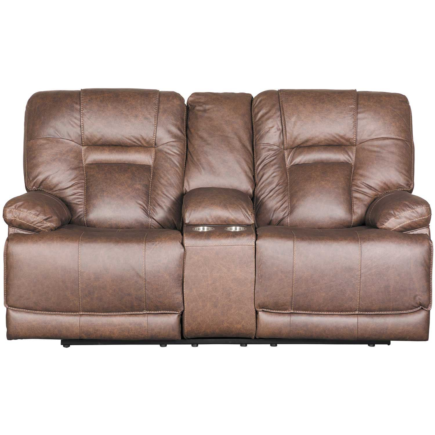 Enjoyable Wurstrow Umber Italian Leather Power Reclining Loveseat Gmtry Best Dining Table And Chair Ideas Images Gmtryco